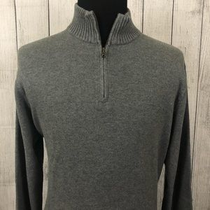 J. Crew Large Gray 1/4 Zip Long Sleeve Sweater